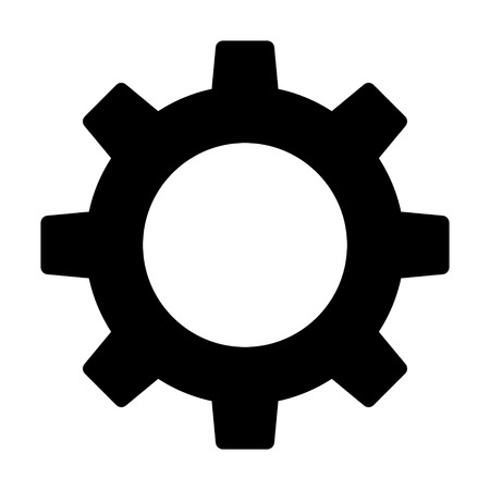 Settings gear / gear cog flat icon for apps and websites