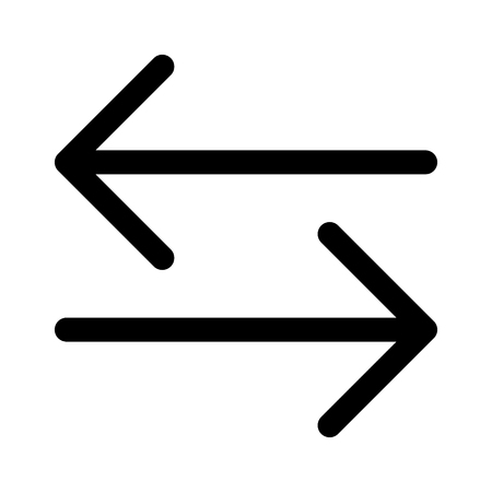 interdependent: File transfer or money transfer line art icon for apps and websites