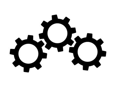 machines engrenages / dents icône plat pour les applications et les sites Web