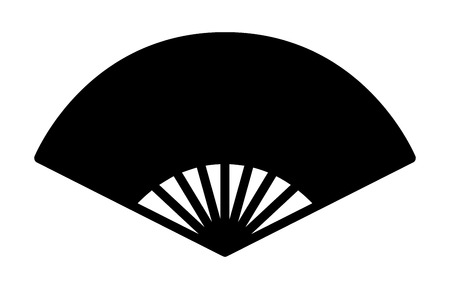 Chinese folding fixed fan flat icon for apps and websites