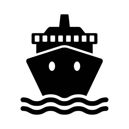 Nave da crociera / nave da carico o icona piatto yacht per le applicazioni e siti web