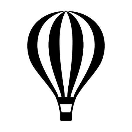 ballooning: Hot air balloon  ballooning ride flat icon for apps and websites