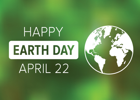 Happy Earth Day on April 22 poster display or greeting card vector illustration Ilustrace
