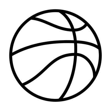 nba: Professional basketball or street basketball line art icon for apps and websites Illustration