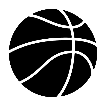 mar: Professional basketball or street basketball flat icon for apps and websites