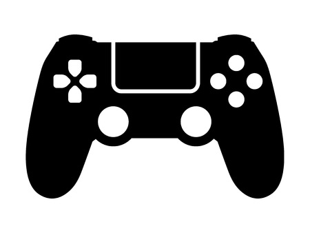 Video game controller / gamepad flat icon for apps and websites Çizim