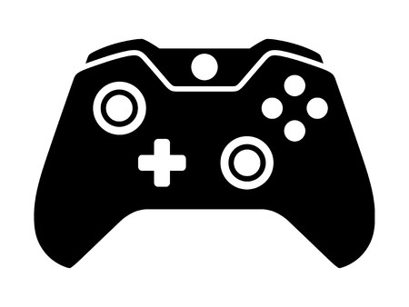 Video game controller or gamepad flat icon for apps and websites Illustration