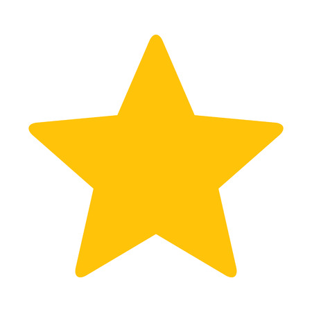 Gold Star or favorite flat icon for apps and websites