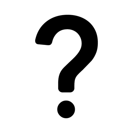 Question mark flat icon for apps and websites 矢量图像