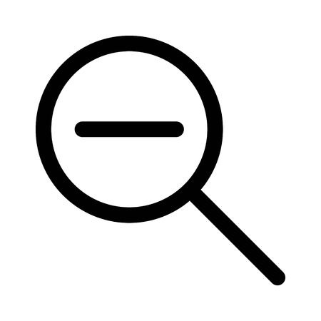Zoom out magnifying glass line art icon for apps and websites Illustration