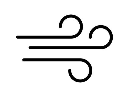 Wieje wiatr / wietrznie sztuka ikony dla aplikacji i stron internetowych