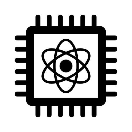 Puce d'ordinateur quantique icône plat pour les applications et sites Web