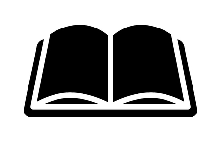 manual: Open book for learning and education flat icon for apps and websites