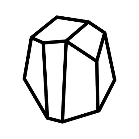 Coal, rock, mineral or stone line art icon for apps and websites