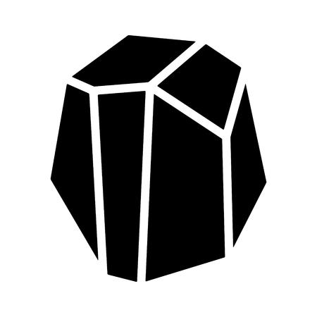 Coal, rock, mineral or stone flat icon for apps and websites