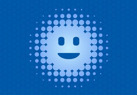 personal digital assistant: Digital  virtual intelligent personal assistant flat vector illustration