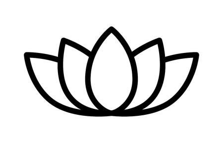 Lotus fleur de fleur ligne icône de l'art pour les applications et les sites Web Vecteurs