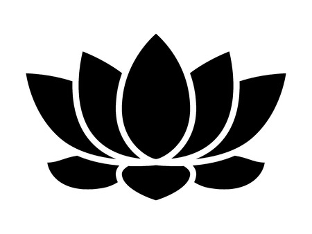 buddhist: Lotus flower blossom flat icon for apps and websites