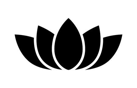 Icono plano de flor de loto para aplicaciones y sitios web Ilustración de vector