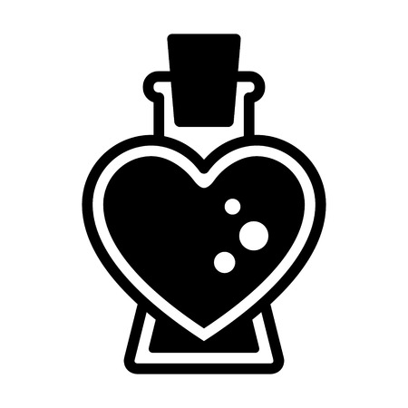 Love / seduction potion flat icon for apps and websites Illustration
