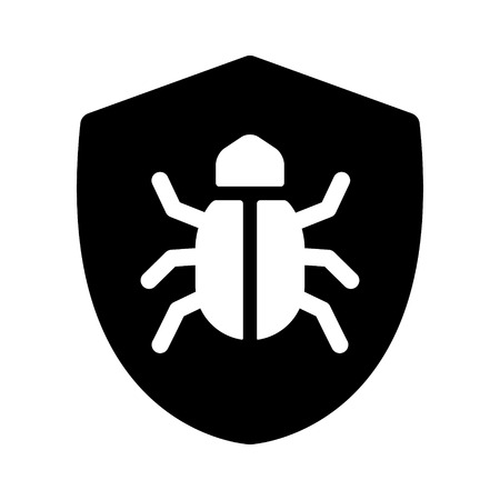 Antivirus protection / virus shield flat icon for apps and websites Illustration