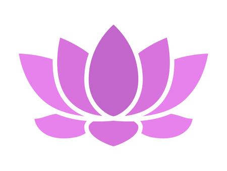 silhouette fleur: lotus fleur pourpre fleur icône plat pour les applications et les sites Web