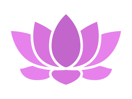 Purple lotus flower blossom flat icon for apps and websites Banco de Imagens - 57038654