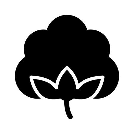 Cotton boll / bloem flat pictogram voor apps en websites