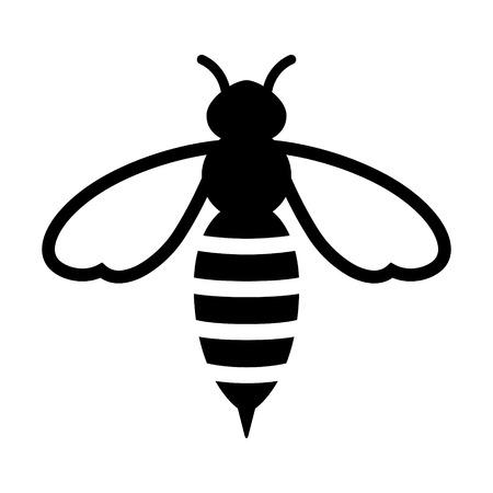 Honingbij of wesp flat icoon voor apps en websites Vector Illustratie