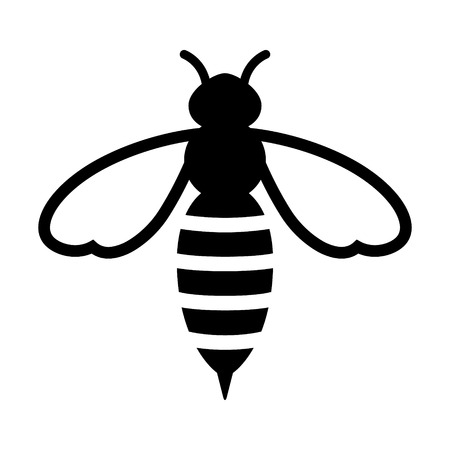 Honey bee or wasp flat icon for apps and websites