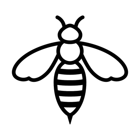 Pszczoła lub OSA sztuka ikony dla aplikacji i stron internetowych