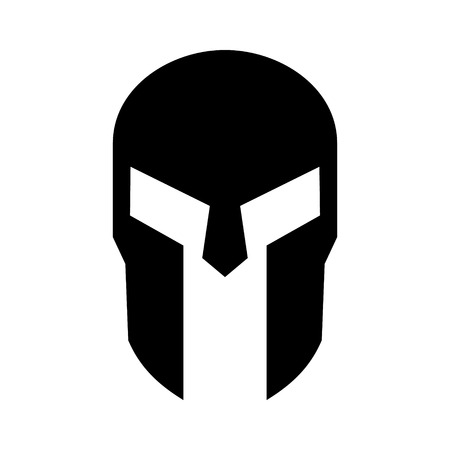 Spartan Greek helmet armor flat icon for apps and websites