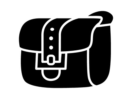 Satchel inventory messenger bag flat icon for apps and websites