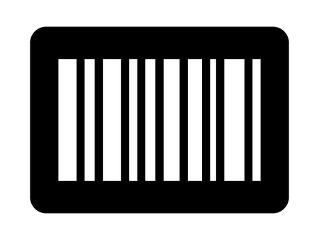 Business inventory barcode  bar code flat icon for apps and websites Illustration