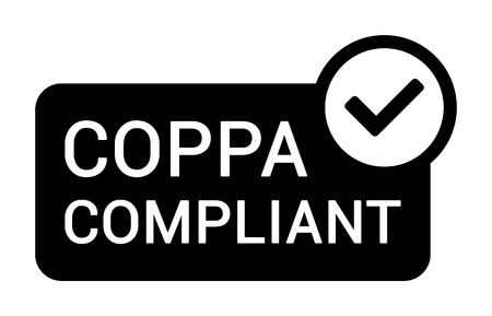 COPPA compliant - Childrens Online Privacy Protection Act flat badge label icon