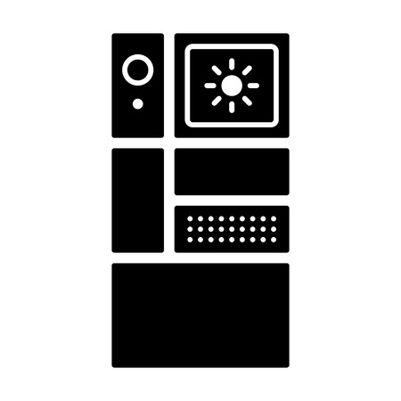 smartphone apps: Modular phone  smartphone with different modules flat icons for apps and websites