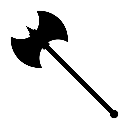 Battleaxe or battle axe flat icon for games and websites