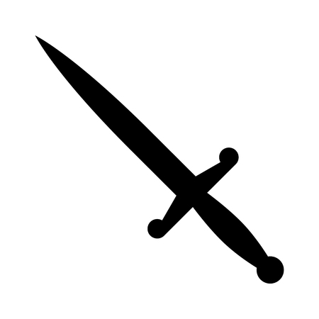 opener: Dagger or short knife for stabbing flat icon for games and websites Illustration