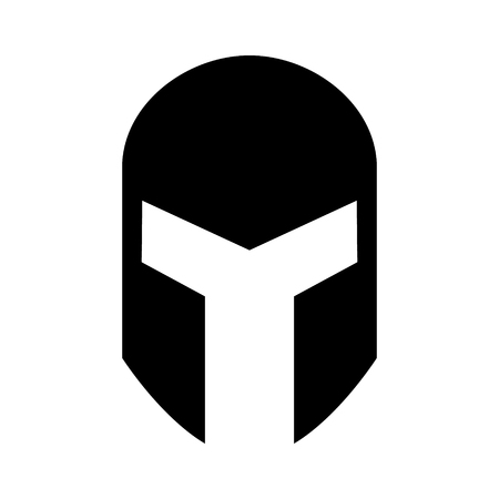 headgear: Medieval gladiatorial helmet headgear flat icon for games and websites