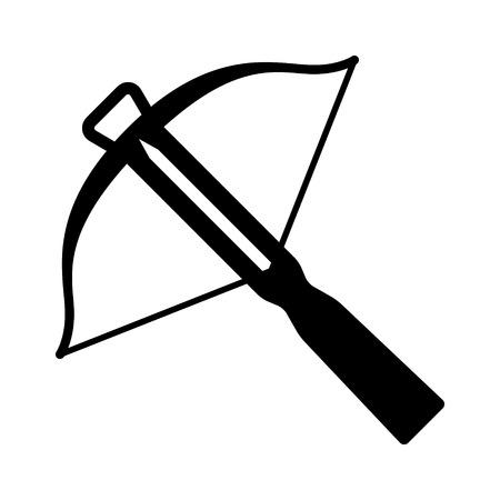 ゲームやウェブサイトのクロスボウ飛び道具フラット アイコン  イラスト・ベクター素材