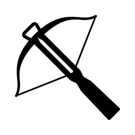 Crossbow projectile weapon flat icon for games and websites