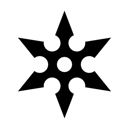 concealed: Ninja shuriken throwing star flat icon for games and websites
