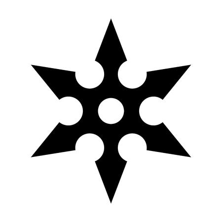 throwing: Ninja shuriken throwing star flat icon for games and websites