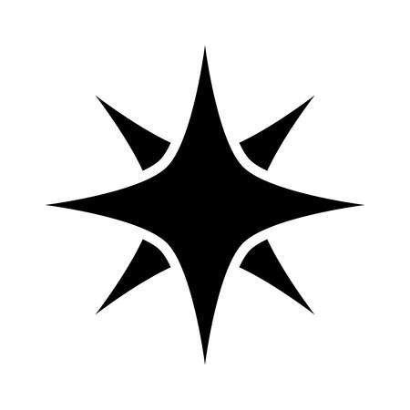 ゲームやウェブサイトの魔法または光の火花フラット アイコン  イラスト・ベクター素材