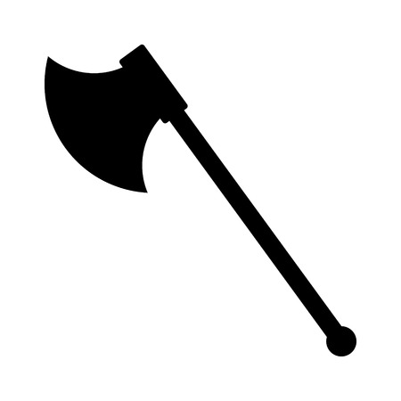 ax: Single sided battleaxe or battle axe flat icon for games and websites