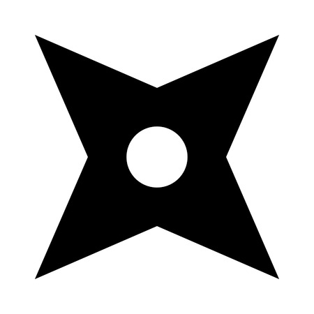 shaken: Ninja shuriken throwing star flat icon for games and websites