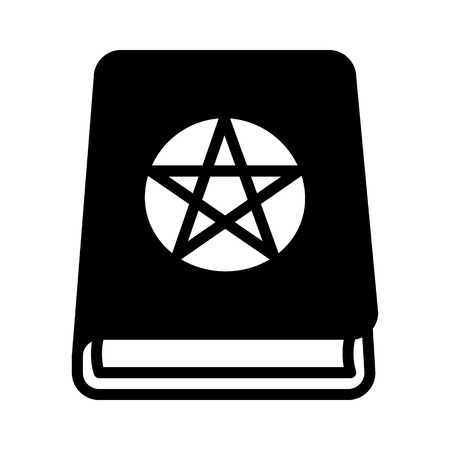 conjuring: Magic spell book, tome or manual flat icon for games and websites