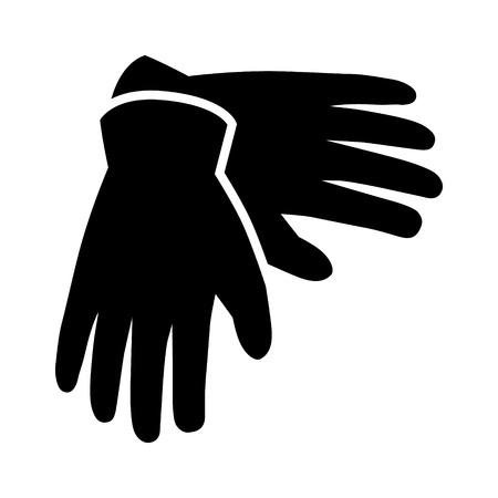 Een paar handschoenen voor handbescherming flat pictogram voor apps en websites