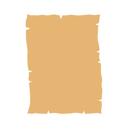 vellum: Parchment paper flat icon for games and websites Illustration