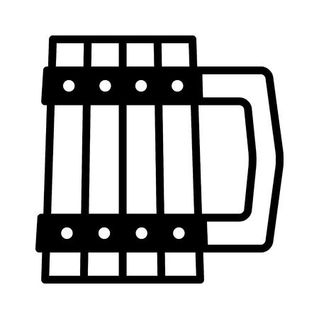 Dwarven tankard  mug flat icon for games and websites